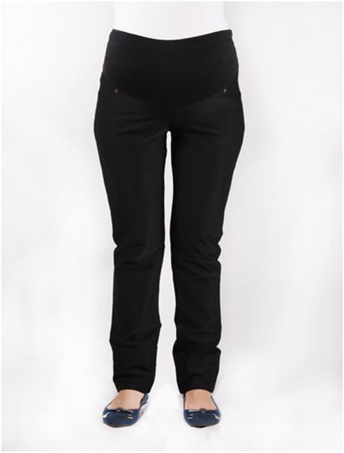 218e5908bf92 Прямые брюки для беременных утепленные флисом черные / ОДЕЖДА ДЛЯ ...