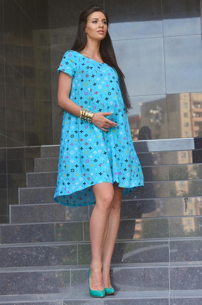 31704a12d18 Легкое летнее платье для беременных и кормящих бирюза   ОДЕЖДА ДЛЯ ...