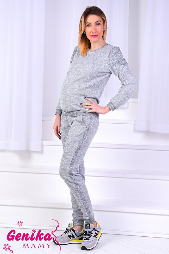 06adea591742 Прогулочный костюм для беременных, кормящих и после светло-серый меланж