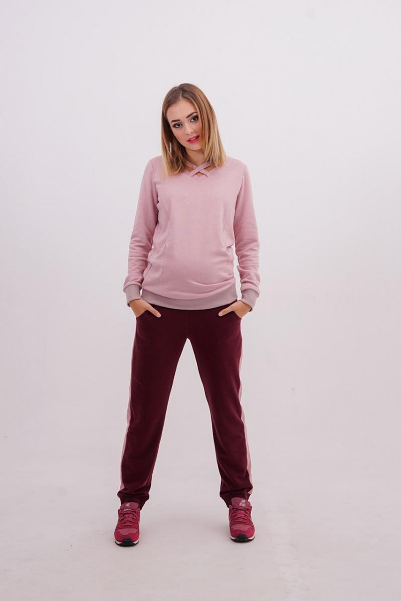 d1811ad276a7 Прогулочные брюки-бойфренды премиум класса для беременных и после бордо