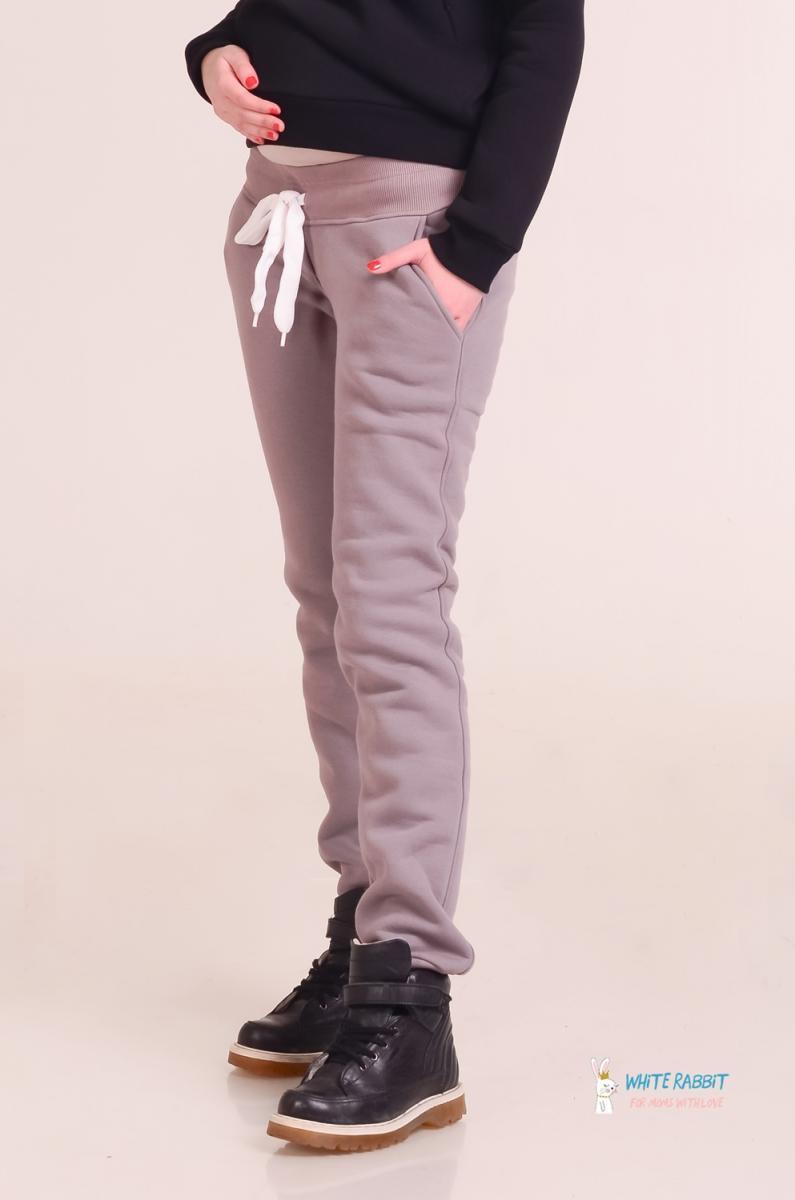 b92ee2a0cb44 Теплые брюки для беременных на флисе Star молочный шоколад   ОДЕЖДА ...