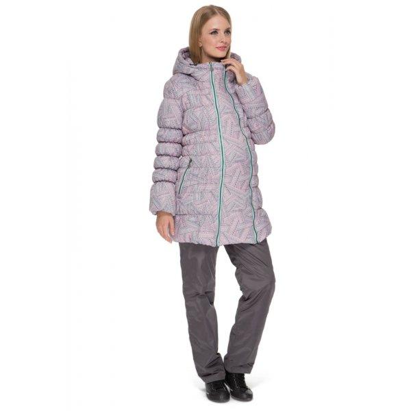 Зимний комплект куртка+брюки для беременных 2в1 Небраска розовый орнамент e72e38a624b28
