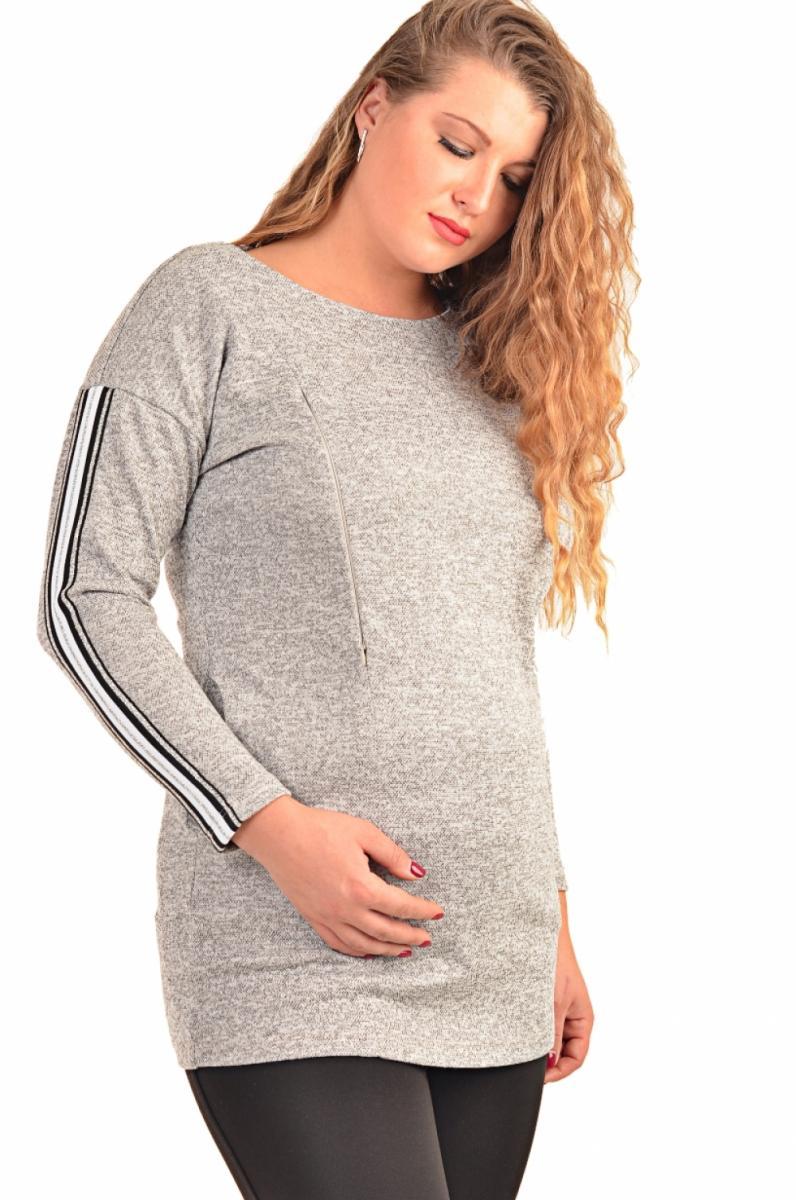 c5a2c19bcaf65 Лонгслив для беременных и кормящих серебро (большие размеры ...